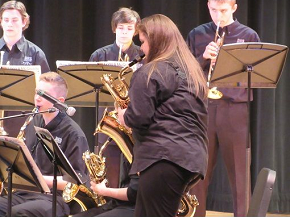 The Didsbury High School Evens Jazz Ensemble at the Heritage Music Festival in Seattle Washington.